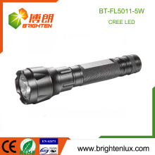 Factory Supply Aluminum Emergency 1*18650 Used Multi-functional Tactical CREE 5W led Torch Light Rechargeable Night Light
