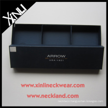 Oblong Custom Packaging Gift Box for 3 pcs Ties Necktie in Display Boxes