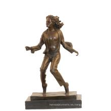 Decoración de música Estatua de latón Michael Jackson Escultura de bronce artesanal Tpy-853