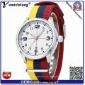 Yxl-491 Custom Design Logo raya Nylon Nato correa relojes hombres marca cuarzo Fashion Sport pareja dama pulsera relojes reloj de pulsera