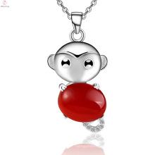 Пользовательские Серебро 925 Содержательное Привесное Ожерелье Обезьяна