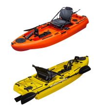 LSF Factory 8ft 2.5m Single Sit on top Foot Pedal Drive Fishing Kayak With Pedals and acccessories