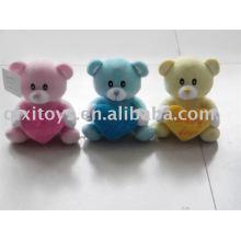 rose en peluche et en peluche valentine teddybear avec coeur, animal doux jouet charmant