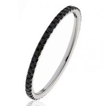 1 Row Diamond Simples Design 925 Silver Ring Jewelry