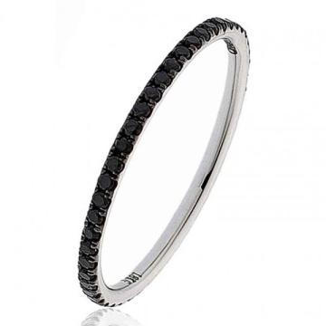 Joyería de plata del anillo del diseño simple del diamante de 1 fila