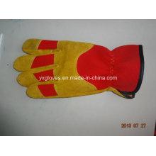 Guante de cuero de vaca Guante de trabajo-Guante industrial-Guantes de guantes baratos