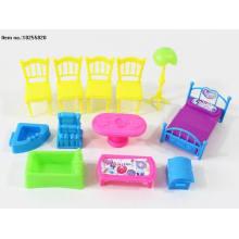 Juguetes de plástico en miniatura de muebles para el hogar
