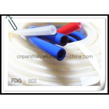 Food Grade Flexible Transparent Clear Color High Pressure Braided Silicone Hose
