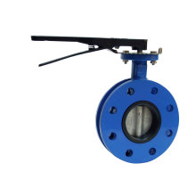 U Section Flanged Butterfly Valve with Lever Operator