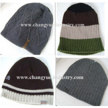 Factory hot selling winter men acrylic knitted cap