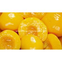2016 Ernte pflanzliche gelbe Pfirsichhälften