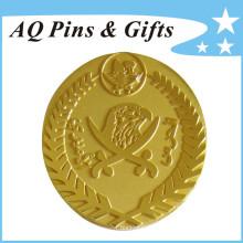 Badge en métal or en temps de production rapide (badge-143)