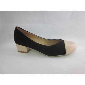 Mode High Heel Chunky Damen Kleid Schuhe (HCY03-097)