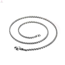 Edelstahl-Material-Großhandelssilber füllte verdrehte Halsketten-Kette,