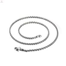Материал Нержавеющей Стали Оптом Серебро Заполнены Витой Ожерелье Цепь,