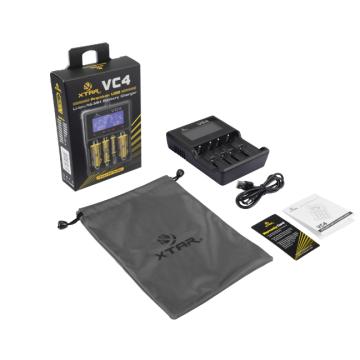 Для Li-ion 18650/18350 Зарядное устройство для Ni-MH / Ni-CD аккумулятора Xtar Vc4 4-разрядное интеллектуальное зарядное устройство для аккумулятора