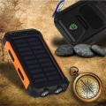 Bright LED Solar Power Bank with Compass