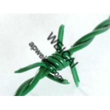 Galvanisé, revêtu de PVC, fil de fer barbelé