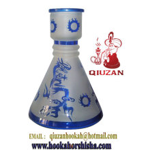 Good Quality Medium Conical Celadon Color Hookah Bottle