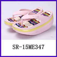 Fashion lovely lady women eva thick sole flip flops shake shoes rocking shoes