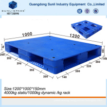 Single Faced Flat Top Euro Plastic Pallet