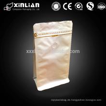 Flachboden-Zipptasche Aluminiumfolienbeutel für Kaffeeverpackung