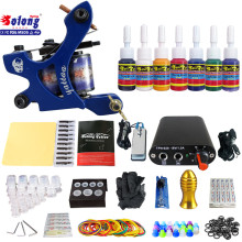 Solong TK105-65 Beginner Tattoo Kit with Tattoo Gun Power Supply Tattoo Kits With Needles