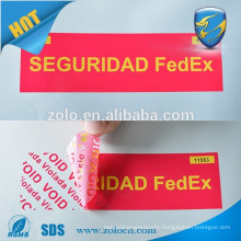 Adhesive Sticker Type and Anti-Counterfeit Feature airline seal,security labels and tape for packaging