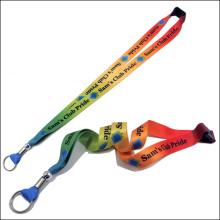 Sublimación / cinta de encargo del cuello del logotipo del acollador impreso para los regalos de la promoción