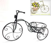 Metall Garten Dekoration Vintage Dreirad geformt Flowerpot Stand Craft