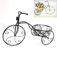 Metal Garden Decoration Vintage Tricycle Shaped Flowerpot Stand Craft