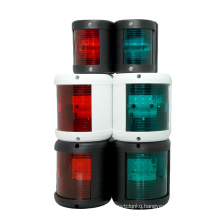 Genuine marine LED night spot beacon rescue Side Mounted batery speed dinghy Black Plastic Boat Navigation Lights