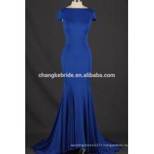 2017 Dernier design spandex sexy ouverture arrière robe de soirée robe de soirée