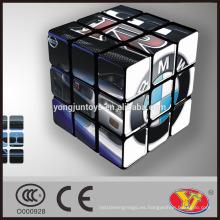 Alta calidad personalizada Cubo mágico del rompecabezas del OEM de la marca de fábrica famosa para el anuncio