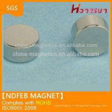 Disque 10mm fritté Neodymium Magnet N42