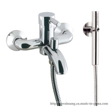 European-Style Bathtub Faucet with Handle Shower