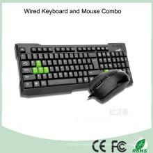 2016 preiswerteste verdrahtete Computer-kombinierte Tastatur-Maus (KB-1688C)