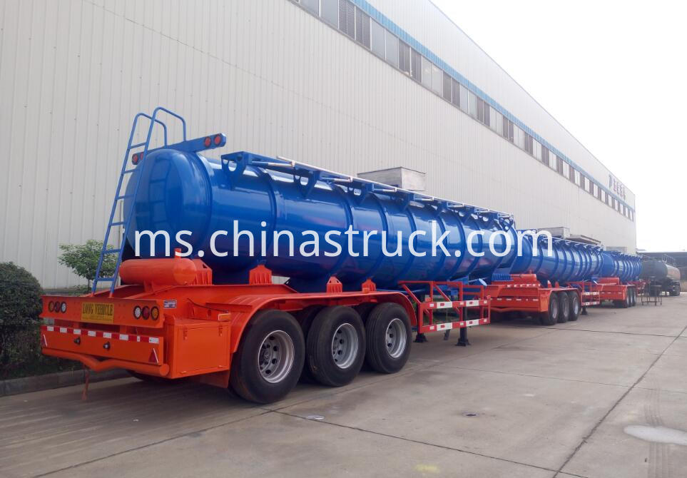 3 axle acid tank trailer