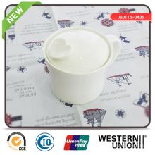 White Color Sugar Pot Yogurt Bowl Storage Jar in Multiple Use