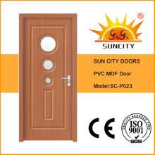 Innen MDF laminierte PVC-Tür