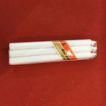 6PCS Polybag 55G Candela in stick bianco grande