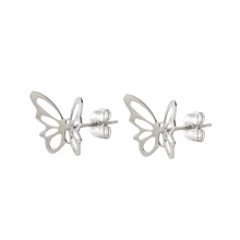 E-330 Xuping  charm Jewelry Literary simple openwork butterfly shaped studs earrings