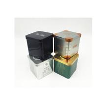 Caixa quadrada da lata do chá do metal da lata da polegada