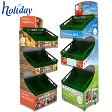 Competitive Price Cardboard Storage Fruit Vegetable Display Rack