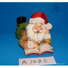 Santa Lesung Buch für Weihnachtsdekoration
