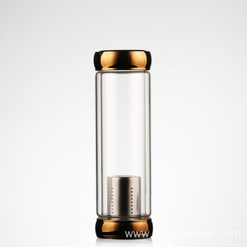 New Product Glass Bottle Tea Tumbler