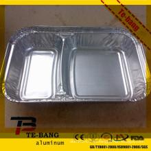 Bandejas de aluminio y tapas para comida lista