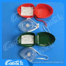 Alta calidad Válvula de una vía de primeros auxilios Pocket CPR Mask