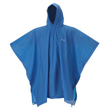 Poncho impermeable de PVC mujer azul
