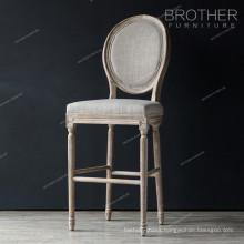 Antique bar furniture velvet fabric high bar chair bar stools wooden